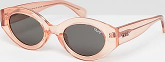 Quay See Me Smile - Ovale Sonnenbrille-Rosa