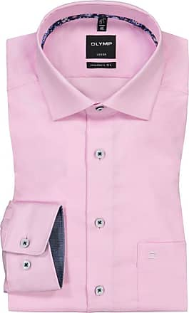 Olymp Luxor modern fit, Oberhemd mit Brusttasche von Olymp in Rose für Herren