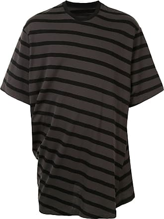 Julius T-shirt oversize a righe - Color marrone