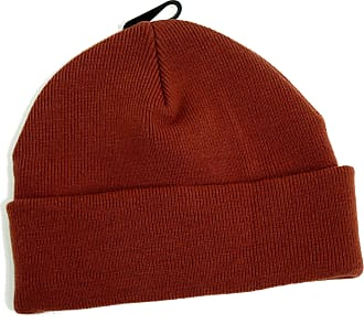Topman Mens Treacle Brown Knitted Classic Fit Beanie Hat One Size