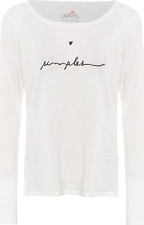 TWENTY FOUR SEVEN Blusa Simple Heart Love Is - Off White