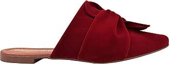 Eleganteria Mule Feminino Rasteirinha Nobuck Vermelho Escuro Eleganteria Tamanho:36;Cor:Vermelho Escuro