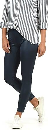 Vero Moda Paris Womens Leggings Tights Pants Made of Fake Leather, Size:M, Colour:Navy Blazer