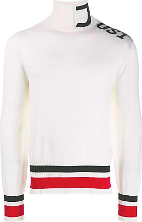 Just Cavalli Suéter gola alta com logo - Branco