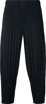 Homme Plissé Issey Miyake micro pleat drop crotch trousers - Blue