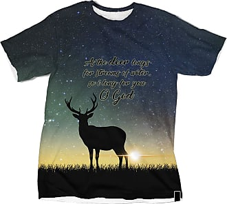 NA As The Deer Longs for Streams of Water Galaxy 3D Shirt
