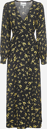 Ganni Floral print crepe wrap dress - GANNI - woman