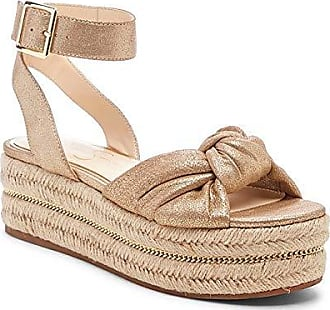 53d5ec5f06 Jessica Simpson Womens APRILLE Wedge Sandal Summer Gold 5.5 M US