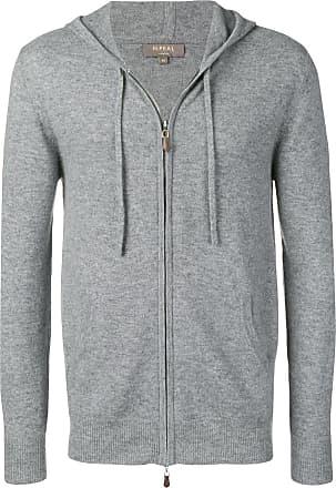 N.Peal hooded zip knitted top - Grey