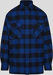 Woolrich Blaues Baumwollhemd aus alaskischem Büffel - m   cotton   blue - Blue/Blue
