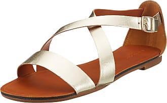 Vagabond Womens Tia Ankle Strap Sandals, (Gold 81), 6.5 UK