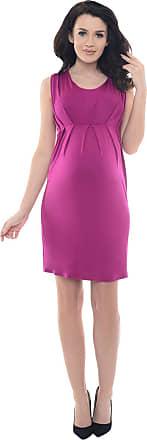 Purpless Maternity Sleeveless V Neck Pregnancy Dress SF8437 (16, Dark Pink)