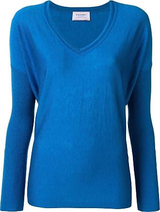 Snobby Sheep Suéter gola V de seda e cashmere - Azul