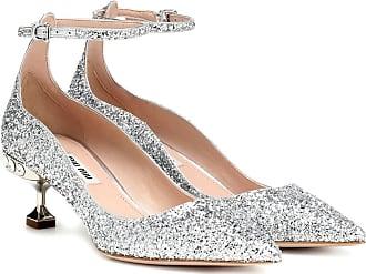 Miu Miu Glitter kitten heel pumps