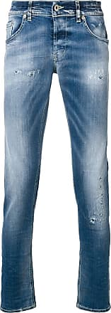 Dondup distressed detail skinny jeans - Azul
