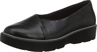 Clarks Womens Un Balsa Go Loafers, Black (Black Leather Black Leather), 5.5 UK