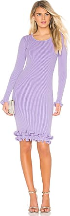 Milly Wired Edge Fitted Dress in Lavender