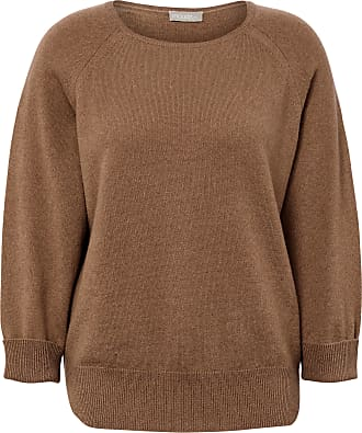 include Round neck jumper in 100% cashmere include brown