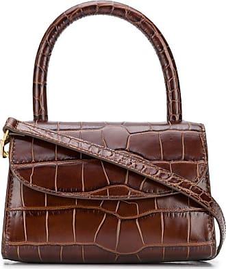 by FAR crocodile-embossed mini bag - Marrom