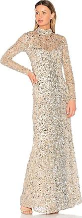 Parker Leandra Gown in Metallic Silver