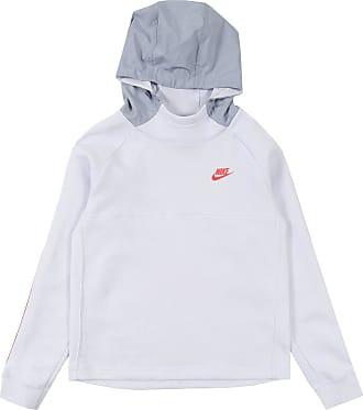 Nike Sweatshirt weiß / taubenblau / rot