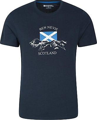 Hiking Outdoors Lightweight T-Shirt Breathable Print Tee Shirt Camping Mountain Warehouse Scotland Mens Tee Regular Fit Best for Travelling