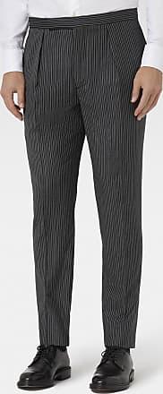 Hackett Mens Chelsea Stripe Wool Trousers | Size 40 | Black/Charcol