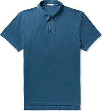 James Perse Supima Cotton-jersey Polo Shirt - Blue