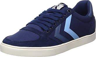 4b76dd22bd6d7e Hummel Unisex Adults Slimmer Stadil Duo Canvas Low Trainers