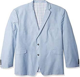 U.S.Polo Association Mens Big and Tall Chambray Sport Coat, Blue, 60 Long