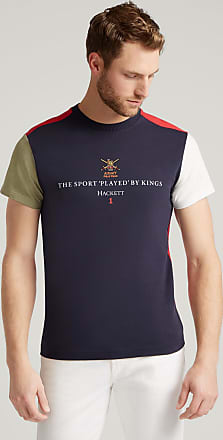 Army Polo Colour Block Army Polo Mens Cotton T-Shirt | XL | Navy