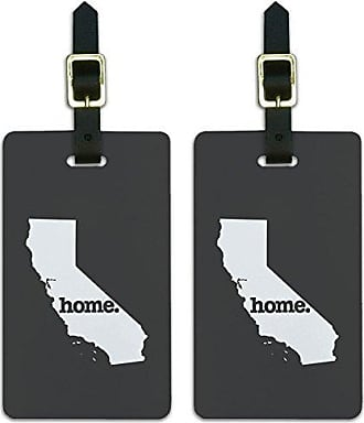 Graphics & More Graphics & More California Ca Home State Luggage Suitcase Id Tags-Solid Dark Grey Gray, White