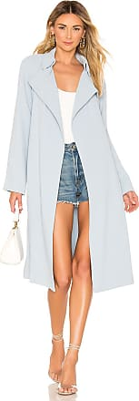 Kendall + Kylie Classic Trench Coat in Baby Blue