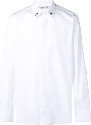 Neil Barrett Camisa com gola estampada - Branco