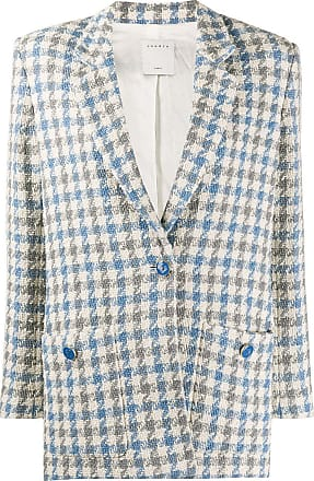 Sandro Caliana houndstooth tweed blazer - Blue