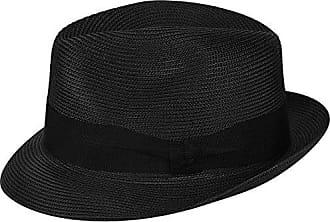 Bailey Mens Craig Braided Fedora Trilby Hat, Black, M