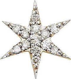 Zoe & Morgan Mini Anahata Gold Diamond Star Einzelstecker - One Size - Gold/White