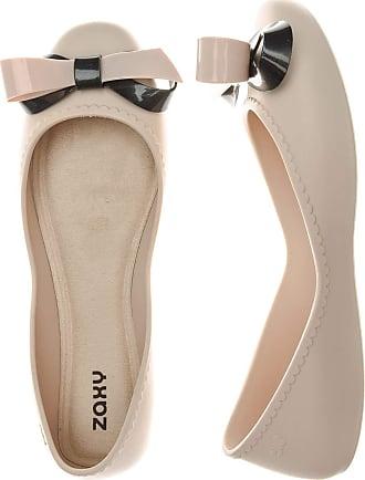 Zaxy Start Ribbon Bow Navy Womens Ballerinas Shoes