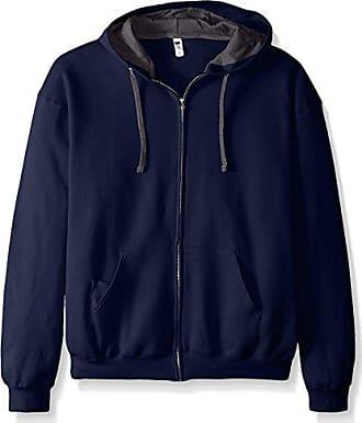 Fruit Of The Loom Mens Full-Zip Hooded Sweatshirt, Navy, XXX-Large
