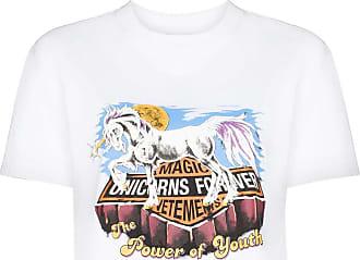 VETEMENTS Camiseta de algodão com estampa de unicórnio - Branco