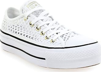 6e8959cff78 Converse NEW - Baskets Converse CHUCK TAYLOR ALL STAR LIFT OX DENTELLE  blanc pour Femme