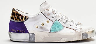 Philippe Model Philippe model - sneaker dettagli animallier e viola - bianco