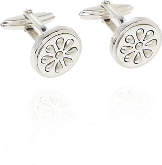 Lanvin Cufflinks With Geometric Motif Mens Silver