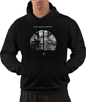 Not Applicable Clothing Mens Long Sleeve Hoodies The Neighbourhood Wiped Out and I Love You Pullover Hooded Sweatshirt with Pockets Black
