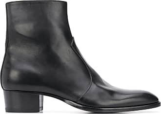 Saint Laurent Wyatt 40 zip boots - Preto