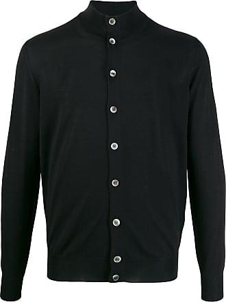 Dell'Oglio Cardigan de tricô gola alta - Preto