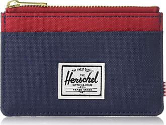 Herschel Herschel Mens Oscar RFID Card Case Wallet, Navy Blue/red, One Size