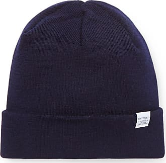 Norse Projects Ribbed Merino Wool Beanie - Navy