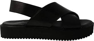 Inuovo 128007 - Womens Black Leather Sandal Black Size: 8.5 UK