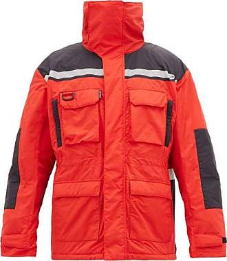 Balenciaga High Neck Technical-shell Parka - Mens - Black Red